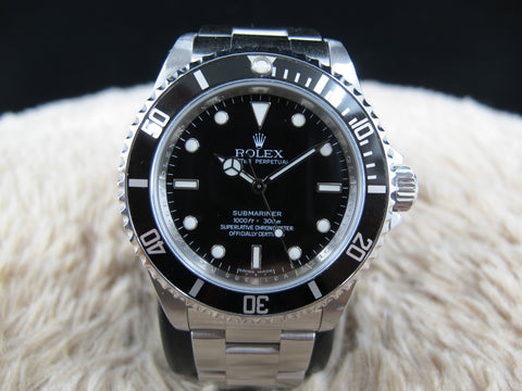 2009 Rolex SUBMARINER 14060M 4 Liners Black Bezel (Inner Ring Serial)