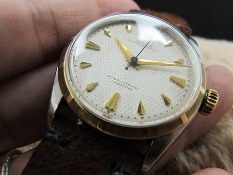 [1954] Rolex BUBBLEBACK 6303 2-Tone with Waffle Dial (no lume)