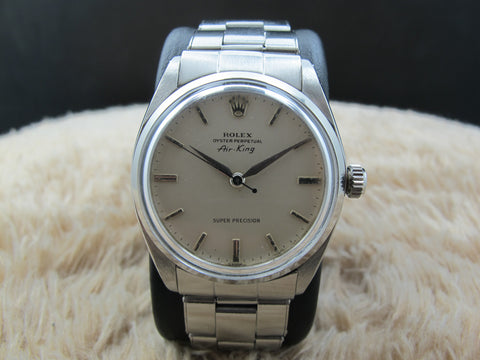 1960 Rolex AIR KING 5500 Original Matt Creamy Dial with Rivet Band