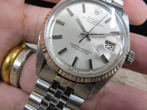 1970 Rolex DATEJUST 1601 Stainless Steel Original Silver SIGMA Dial
