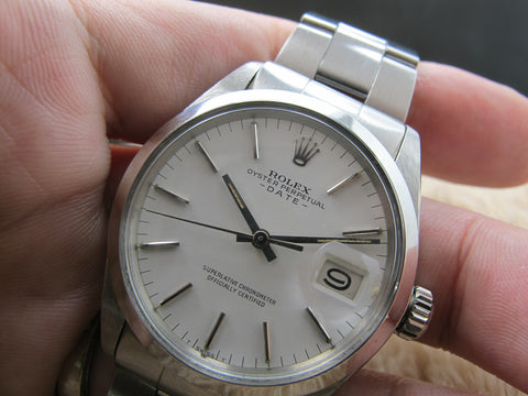 1969 Rolex OYSTER DATE 1500 Original White Dial with Folded Oyster Band