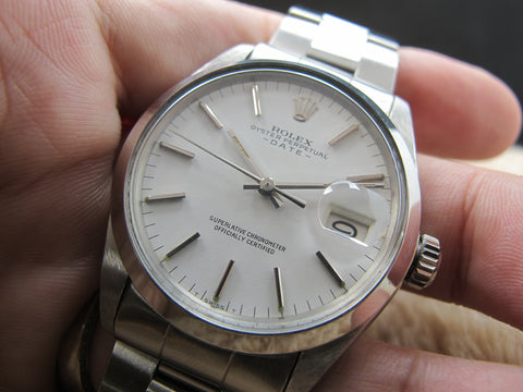[1969] Rolex OYSTER DATE 1500 Original White Dial with Folded Oyster Band