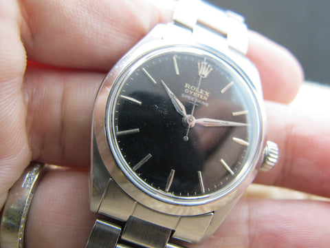 1963 Rolex OYSTER SPEEDKING 6430 Original UNDERLINE Gilt Dial