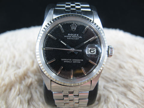 [1967] Rolex DATEJUST 1601 SS Original Glossy Gilt Dial with Folded Jubilee Band
