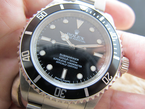 2006 Rolex SUBMARINER 14060M 4 Liners Black Bezel (Inner Ring Serial)