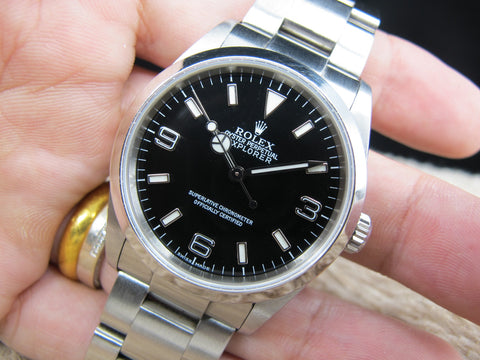 2002 Rolex EXPLORER 1 114270 Black Dial Mint Condition with Tags