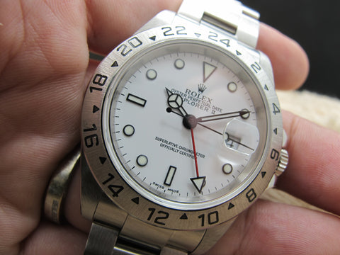2002 Rolex EXPLORER 2 16570 White Dial (SEL) Mint Condition