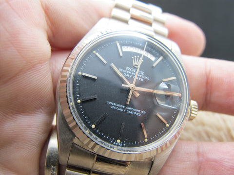 1972 Rolex DAY-DATE 1803 18K White Gold with Original Matt Black Dial