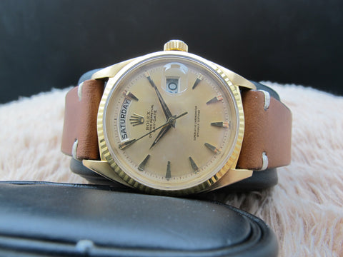1962 Rolex DAY-DATE 1803 18K Gold with Original Matt Gold Dial with Claw Markers