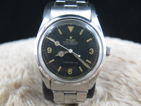 1958 Rolex AIR KING 5504 BIG SIZE Original Matt EXPLORER RARE (36mm)