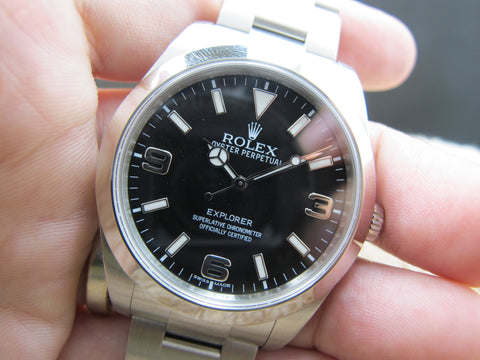 2014 Rolex EXPLORER 1 214270 Stainless Steel Black Dial Full Set