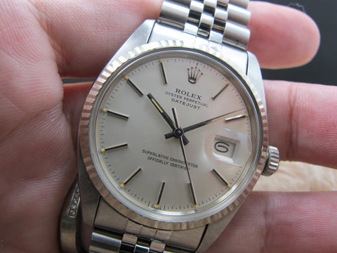 1979 Rolex DATEJUST 16014 Stainless Steel Original Matte Silver Dial (New Old Stock)