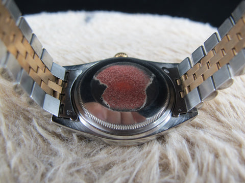 1974 Rolex DATEJUST 1601 2-Tone SS/PINK GOLD with ORIGINAL Black Dial