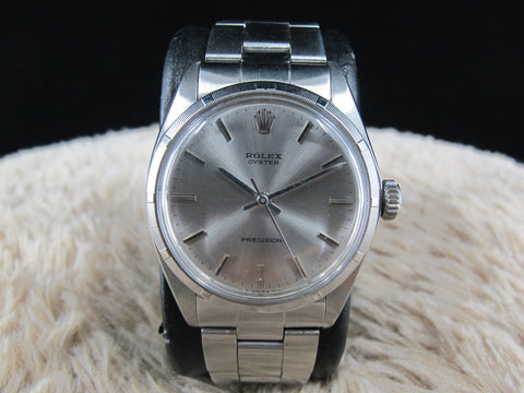 1968 Rolex OYSTER 6427 Original Light Grey Dial with Engine Turned Bezel