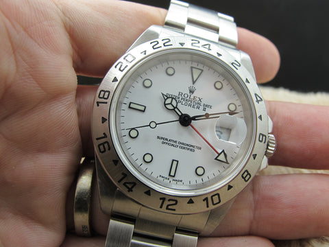 1999 Rolex EXPLORER 2 16570 White (Swiss Made) Dial