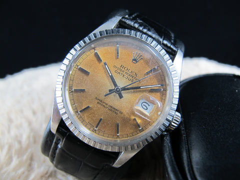 1984 Rolex DATEJUST 16030 Stainless Steel with Tropical Dial