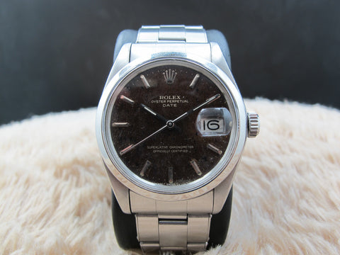1978 Rolex OYSTER DATE 1500 with Tropical Gilt Dial