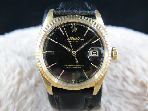 1972 Rolex DATEJUST 1601 18K YG with Original Glossy Gilt Dial