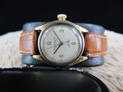 [1930] Rolex OYSTER IMPERIAL 2595 9K Gold with Raised 3-6-9-12 Dial