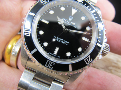 1991 Rolex SUBMARINER (T25 Dial) 14060 with Black Bezel