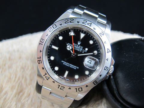 2006 Rolex EXPLORER 2 16570 Black Dial (No Hole Case) with Box and Paper