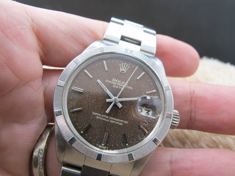 [1972] Rolex OYSTER DATE 1501 with Tropical Brown Gilt Dial
