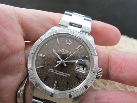 1972 Rolex OYSTER DATE 1501 with Tropical Brown Gilt Dial