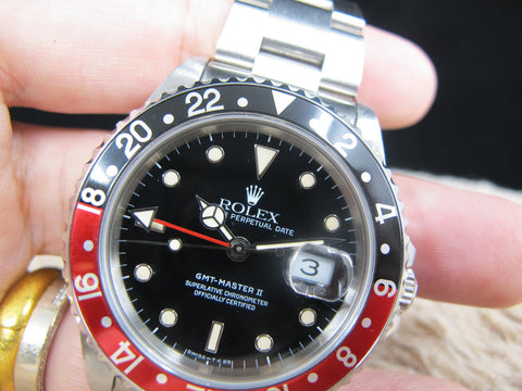 1992 Rolex GMT MASTER 2 16710 (T25 Dial) Coke Bezel Full Set