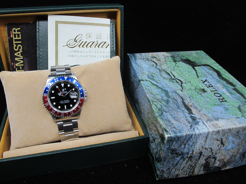 1998 Rolex GMT MASTER 16700 (T25 Dial) Pepsi Bezel with Box and Paper