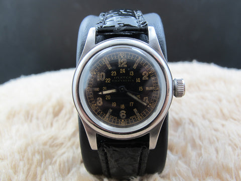 1947 Rolex 3136 OYSTER Military with Glossy Black Gilt Dial