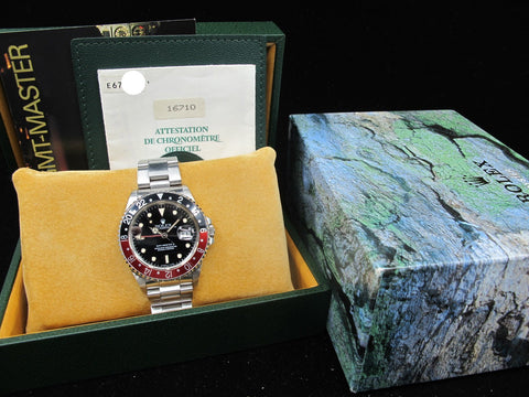 1991 Rolex GMT MASTER 2 16710 (T25 Dial) Coke Bezel Full Set