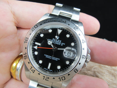 2004 Rolex EXPLORER 2 16570 Black Dial with Box and Papers