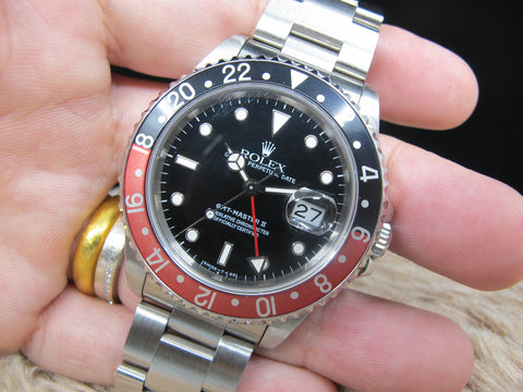 1995 Rolex GMT MASTER 2 16710 (T25 Dial) Coke Bezel Full Set