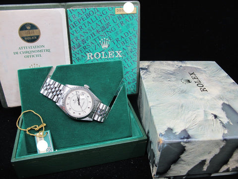 "1980 Rolex DATEJUST 16030 SS Original Creamy ""Boiler Gauge"" Dial with Paper"
