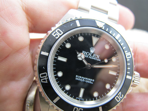 1999 Rolex SUBMARINER (SWISS Dial) 14060 with Black Bezel