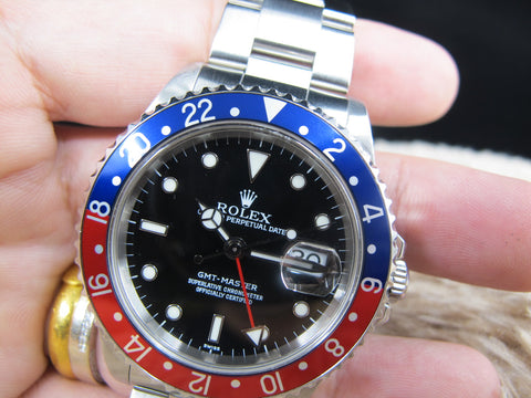 1999 Rolex GMT MASTER 16700 Pepsi Bezel A Serial (Last Production) Full Set