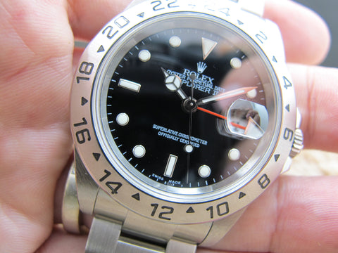 2006 Rolex EXPLORER 2 16570 with Black Dial (No Hole Case)