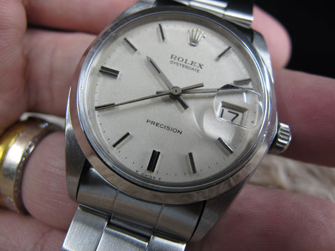 1969 Rolex OYSTER DATE 6694 Original Matt Cream Dial with Folded Oyster Band