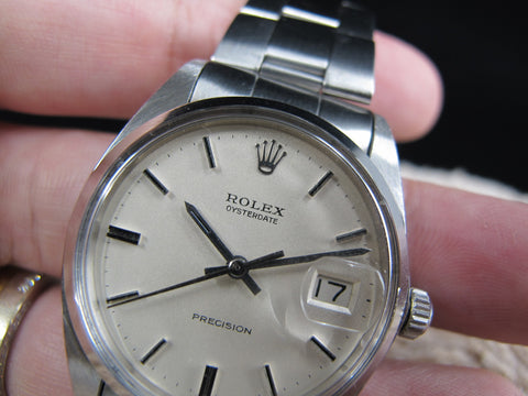 [1969] Rolex OYSTER DATE 6694 Original Matt Cream Dial with Folded Oyster Band