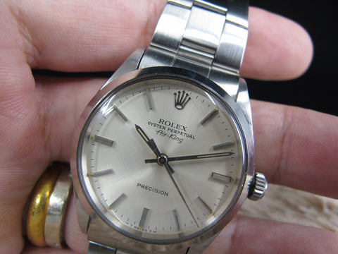 [1970] Rolex AIR KING 5500 Original Silver Dial with Box and Paper