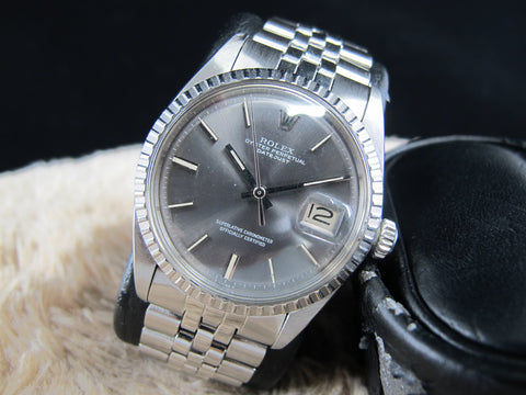[1972] Rolex DATEJUST 1603 SS ORIGINAL Grey Dial with Box and Paper