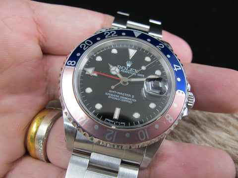 1996 Rolex GMT MASTER 2 16710 (T25) Pepsi with Box and Paper