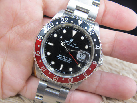 1994 Rolex GMT MASTER 2 16710 (T25 Dial) Coke Bezel Full Set