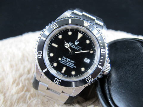 1992 Rolex SEA DWELLER 16600 (T25 Dial) Creamy Lume with Box and PAPER
