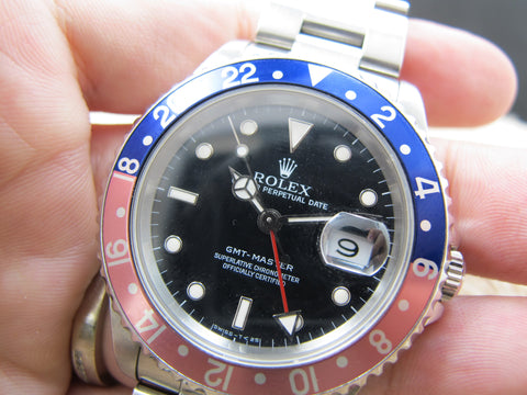 1990 Rolex GMT MASTER 16700 (T25 Dial) Pepsi Red/Blue Bezel