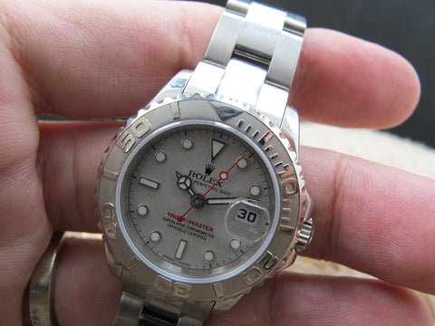 2002 Rolex YACHT-MASTER Ladies 169622 Grey Dial Mint