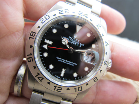 1997 Rolex EXPLORER 2 16570 Black (T25) Dial with Full Set