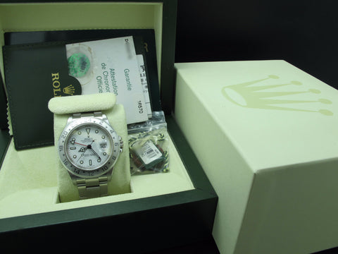 2006 Rolex EXPLORER 2 16570 White Dial with Full Set