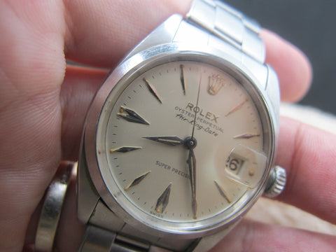 1960 Rolex AIR KING EXPLORER DATE 5700 Original Silver Dial RARE