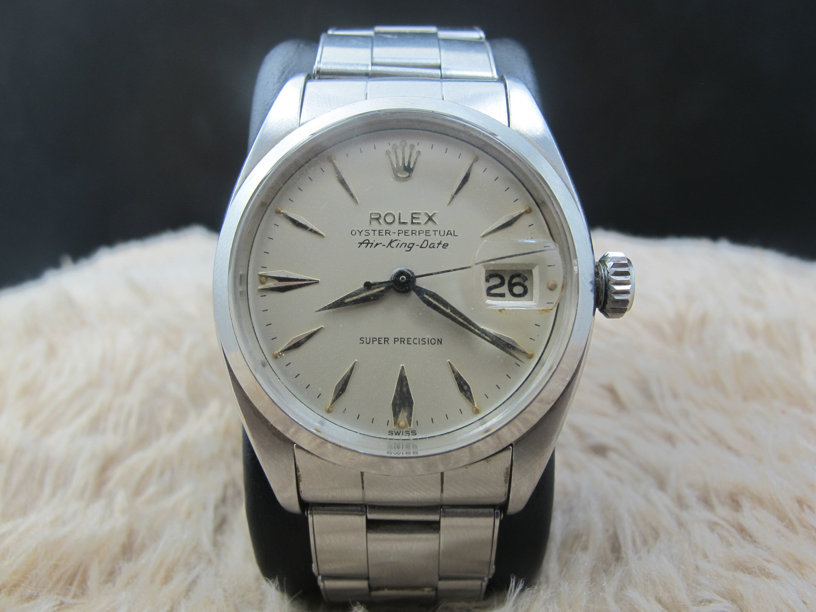 ii rolex watch p explorer white owned dial mens watches steel pre